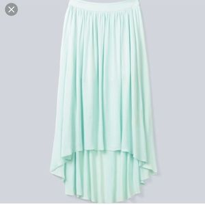 Wilfred chouette skirt blue green hi low midi